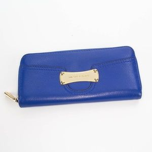 MICHAEL KORS Blue Leather Bi-Fold Wallet